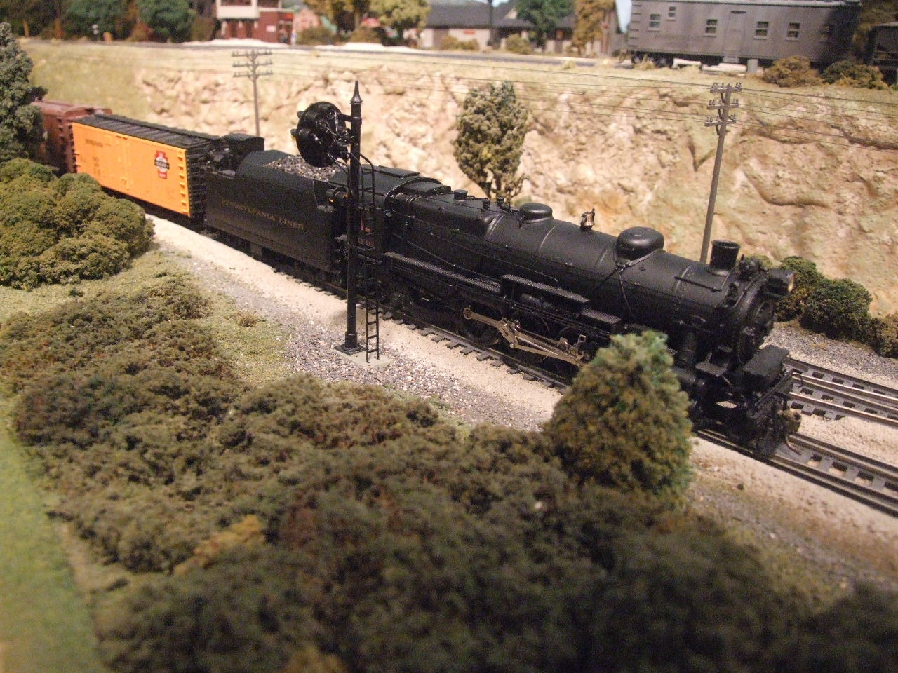 LSRHS reefer is at the head of a train powered by PRR 2-8-2 r/n 7346
