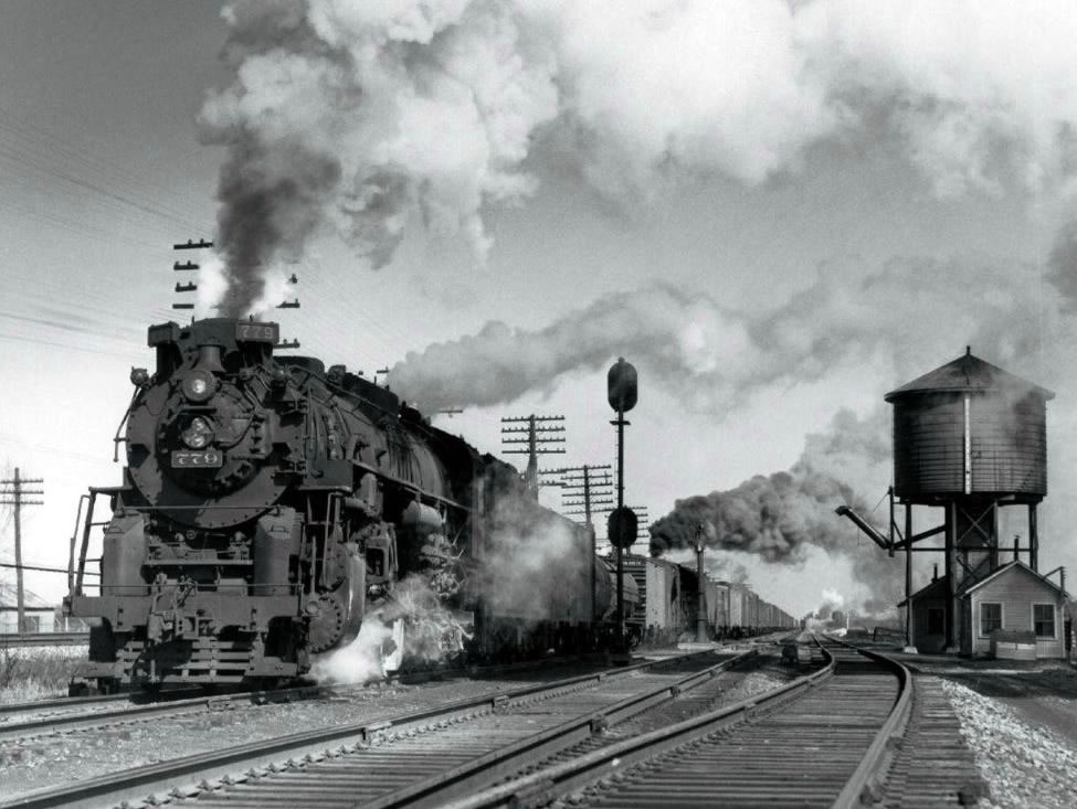 Berkshire 779 in North East, PA in March of 1957