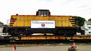 GE 80 ton locomotive built in Erie in 1944 just added to the Lake Shore Railway Museum