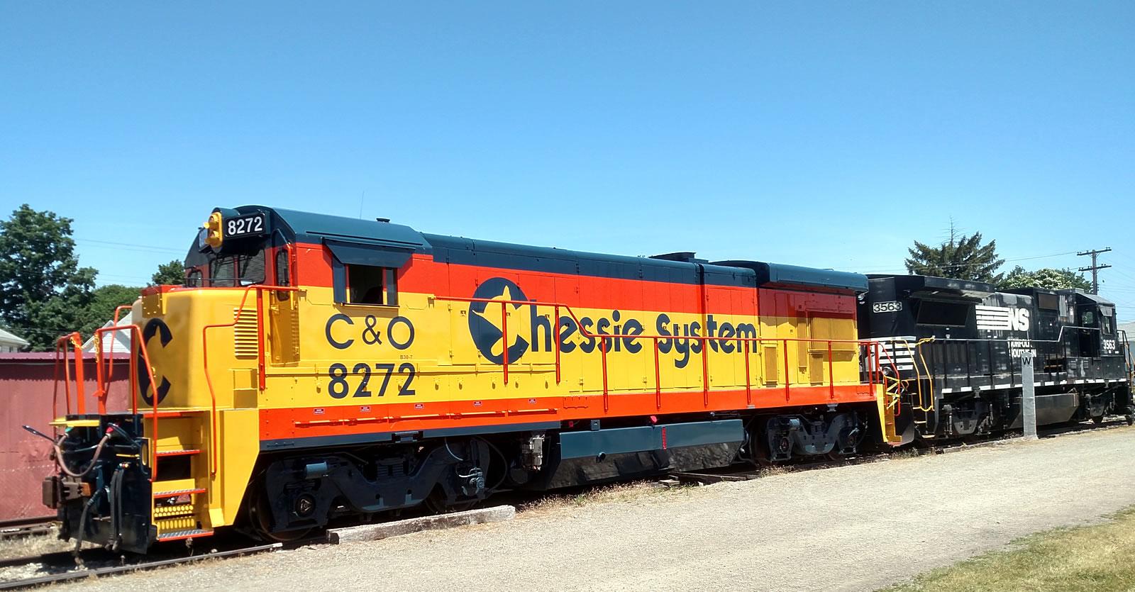 GE Dash 7 locomotive at the Lake Shore Railway Museum